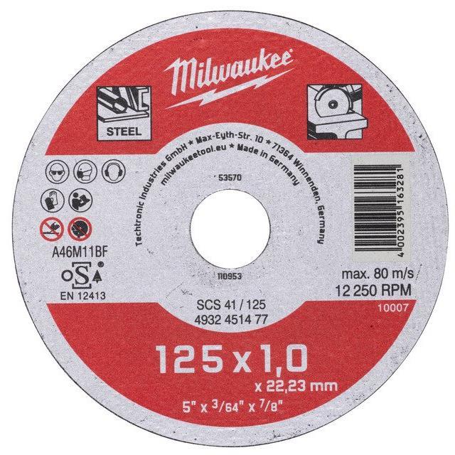 Milwaukee SCS 41 Contractor Kapskiva 125×1 mm