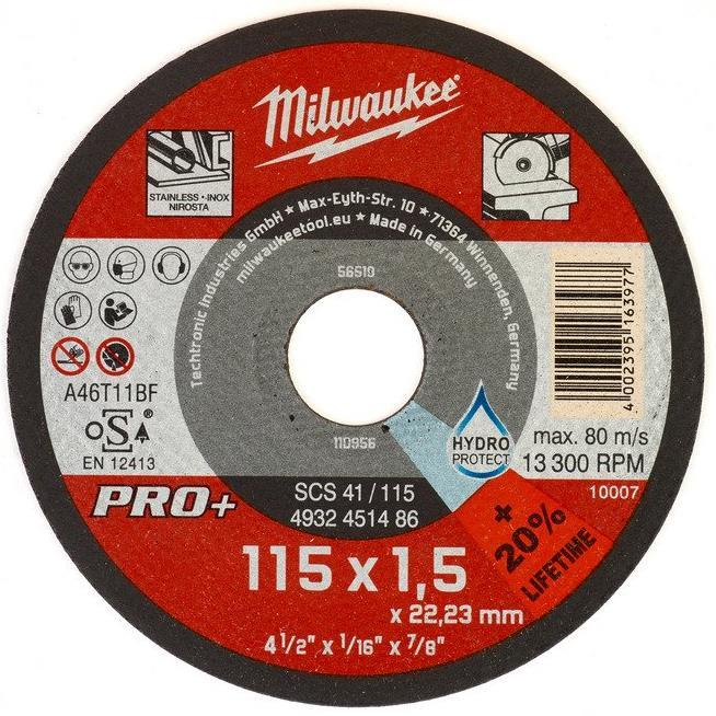Milwaukee SCS 41 PRO+ Kapskiva 115×15 mm