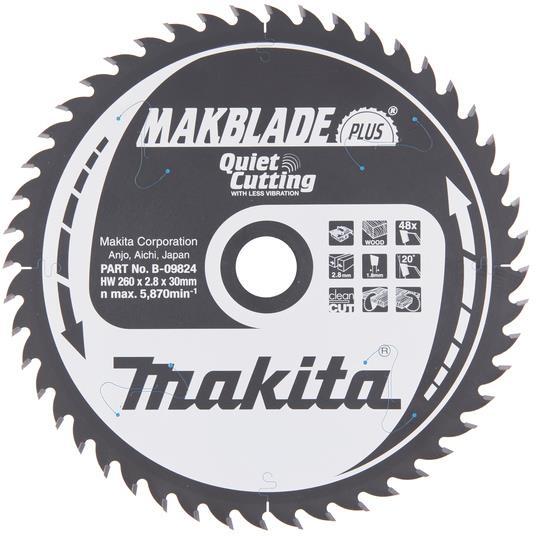 Makita B-09824 Sågklinga 260x30mm 48T