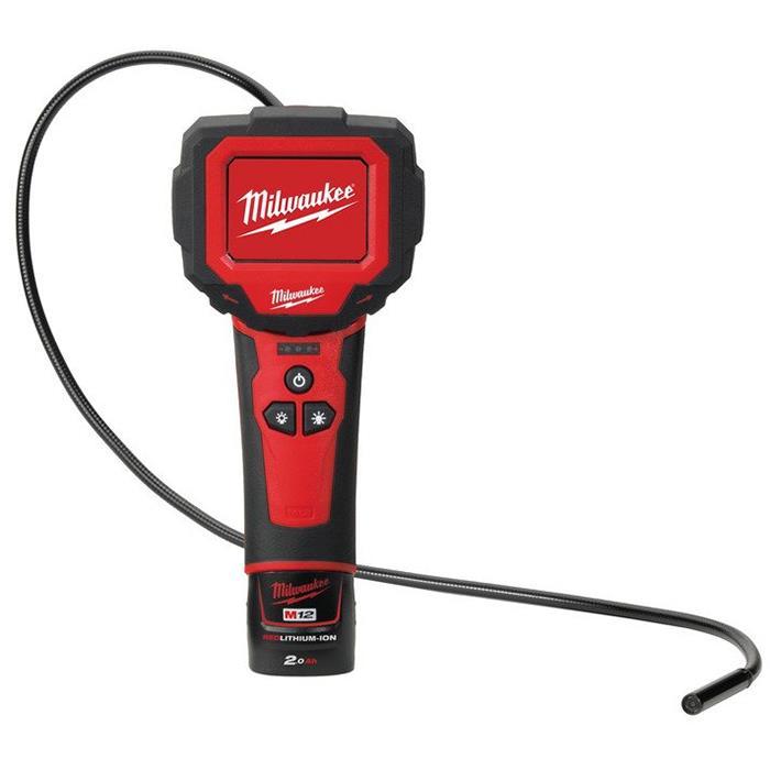 Milwaukee M12 IC-201C S Inspektionskamera med 2,0Ah batteri och laddare
