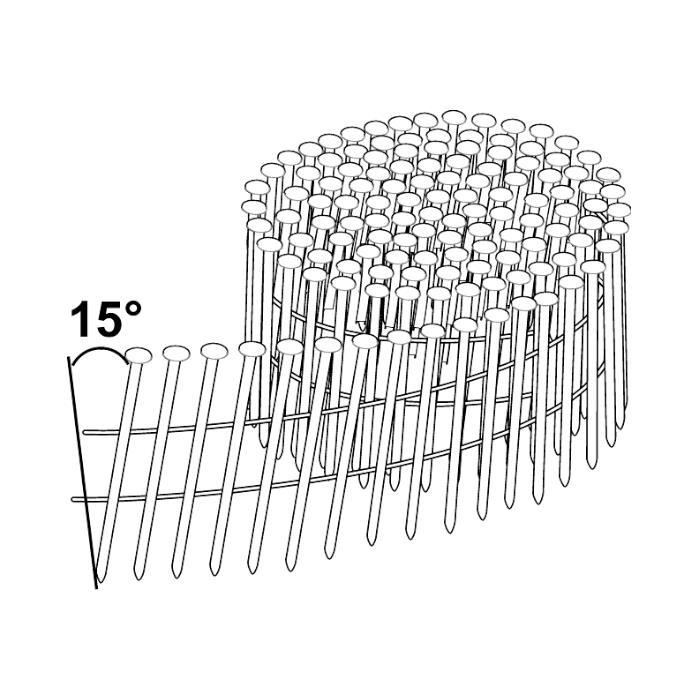 ESSVE M-Fusion Coilspik 15°, trådbandad 1000-pack, 2,8x75mm