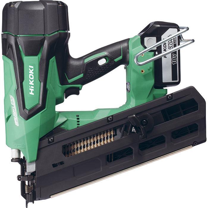 HiKOKI NR1890DBRL Spikverktyg med 50Ah batterier och laddare