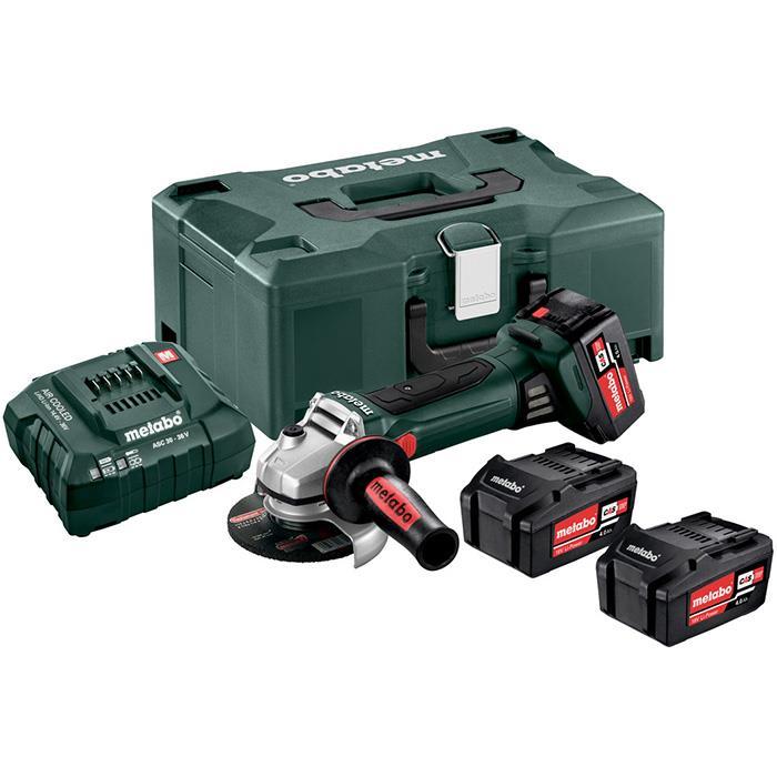 Metabo W 18 LTX 125 Quick Set Vinkelslip med väska 40Ah batterier och laddare