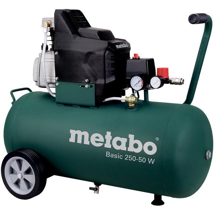 Metabo Basic 250-50 W Kompressor med påfyllnadskapacitet 110 l/min 50 liter