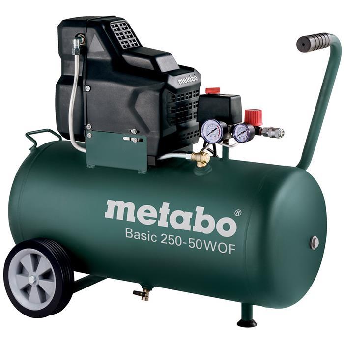 Metabo Basic 250-50 W OF Kompressor med påfyllnadskapacitet 120 l/min 50 liter