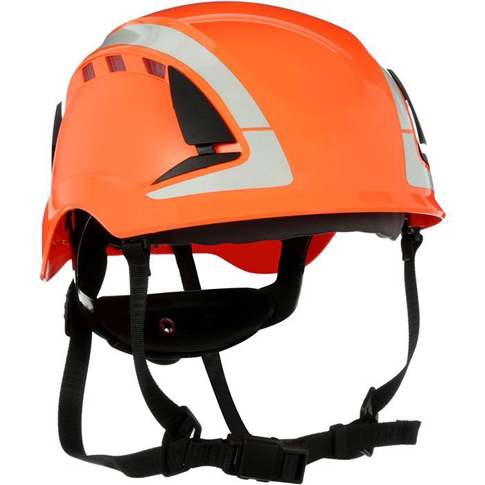 3M SecureFit X5007V Skyddshjälm dubbla godkännande ventilerad reflex Orange