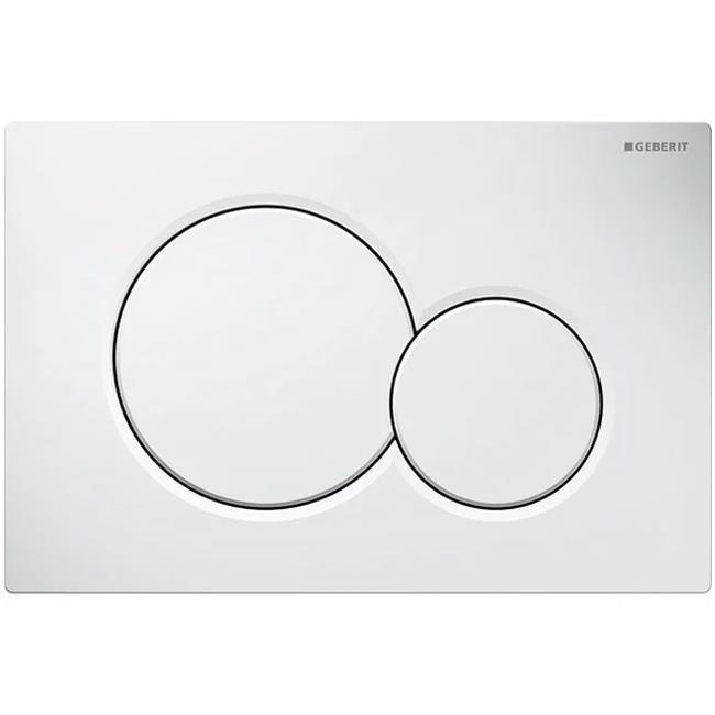 Geberit Sigma 01 Spolplatta dubbelspolning Alpinvit