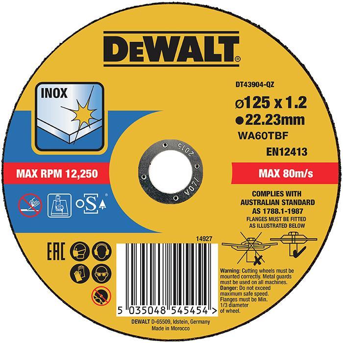 Dewalt DT43904 Kapskiva thin cutting 125 x 12 mm