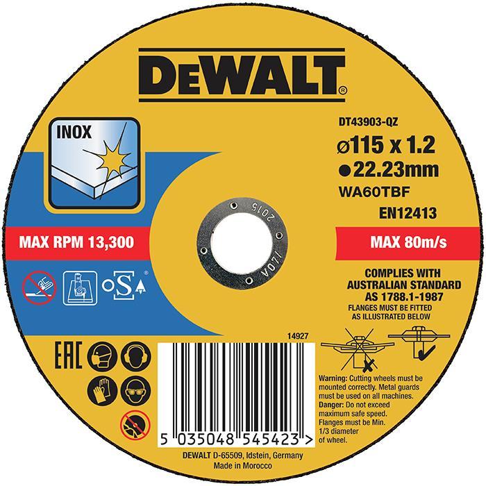 Dewalt DT43903 Kapskiva thin cutting 115 x 12 mm