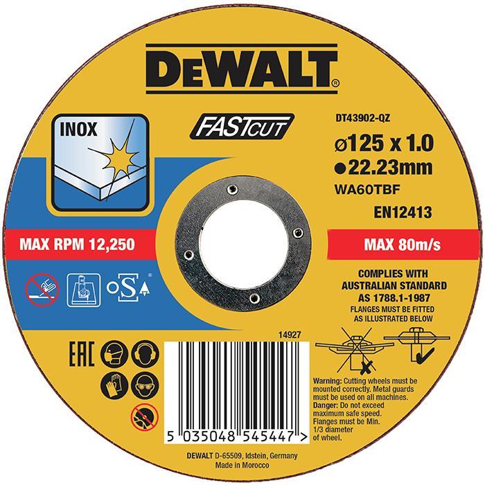 Dewalt DT43902 Kapskiva thin cutting 125 x 1 mm