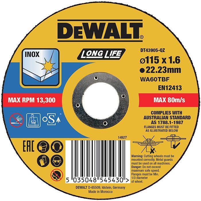 Dewalt DT43905 Kapskiva thin cutting 115 x 16 mm