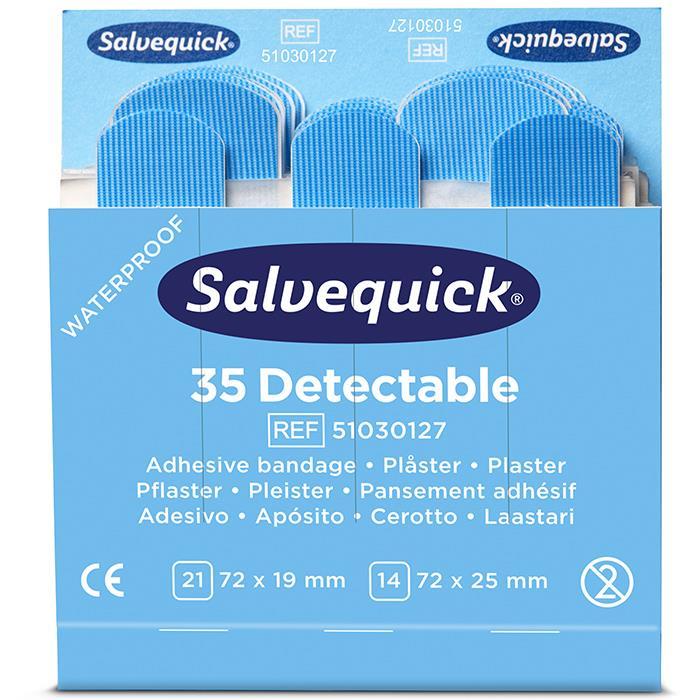 Salvequick 51030127 Blue Detectable Plåster