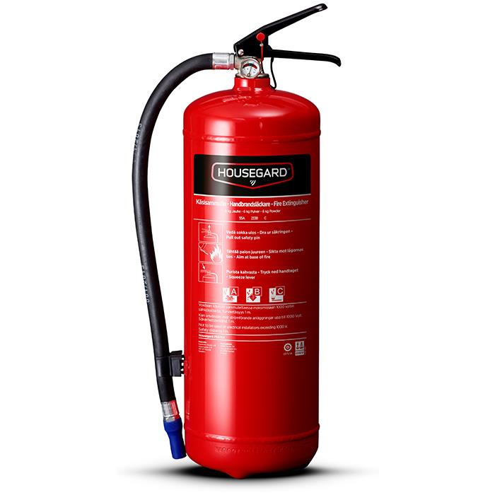 Housegard PE6TEA Brandsläckare pulver 6 kg röd