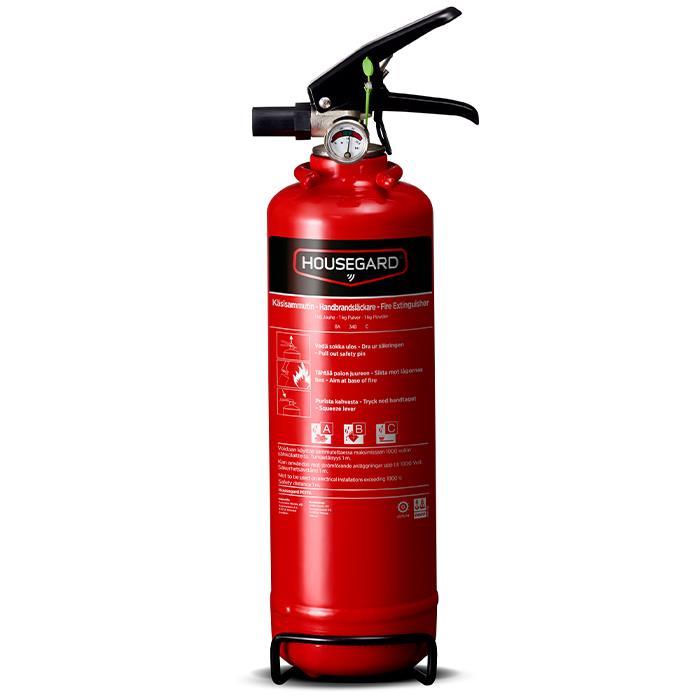 Housegard PE1TGH Brandsläckare pulver 1 kg röd