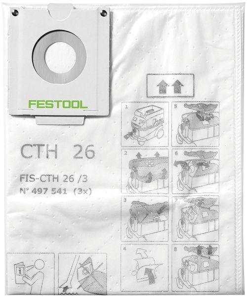 Festool FIS-CTH 48 Säkerhetsfiltersäck 3-pack