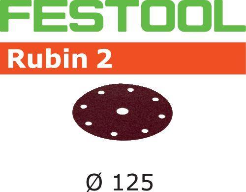 Festool STF RU2 Slippapper 125mm 8-hålat 50-pack P60