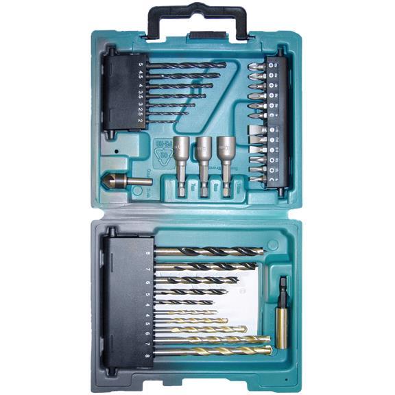 Makita D-36980 Borr- och bitset 34 delar
