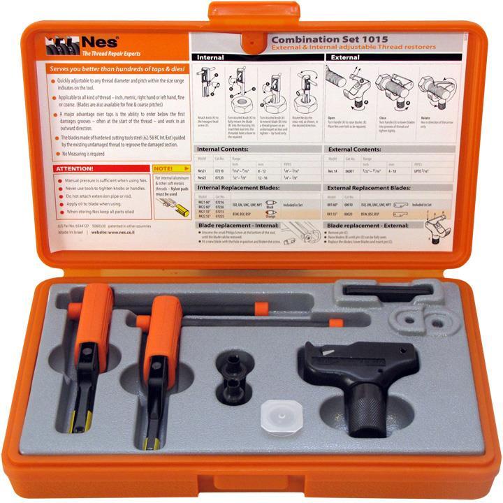 NES 1015 Gängreparationssats utvändig 4-19 mm invändig 8-16 mm