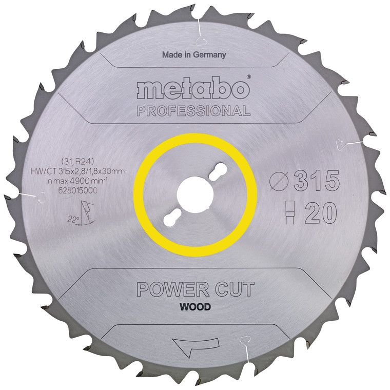 Metabo 628016000 Sågklinga 315×30 mm 24T