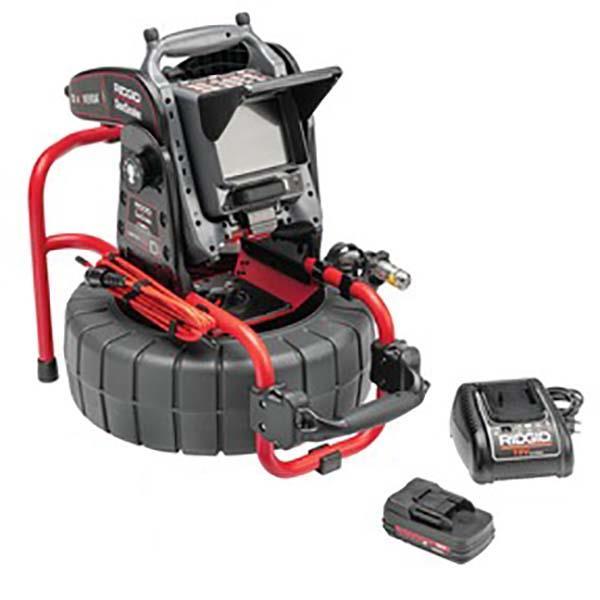 Ridgid Compact M40 Kamerasystem med CS6x VERSA batteri och laddare