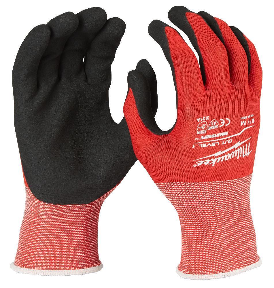 Milwaukee Cut Level 1 Skärskyddshandske nitrilförstärkt handflata XL/10