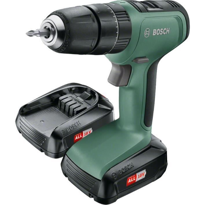Bosch DIY Universal Impact 18 Slagborr 2 st 15Ah batterier och laddare