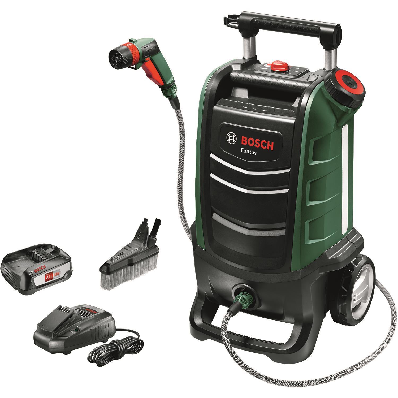 Bosch DIY Fontus Högtryckstvätt med 25Ah batteri och laddare