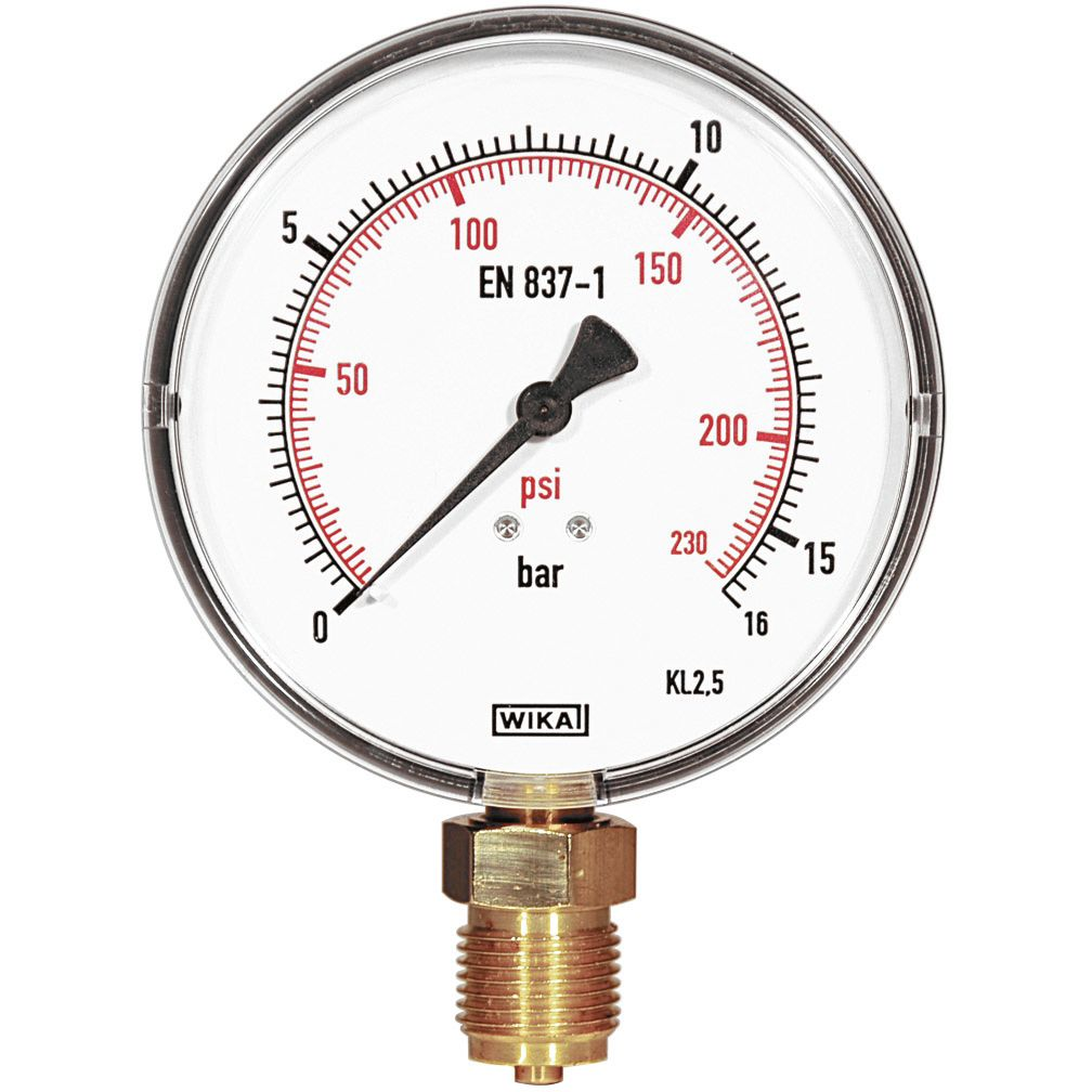 REMS 115045 Manometer fingraderad skala 16 bar