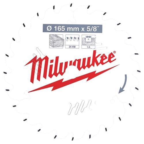 Milwaukee CSB P W Sågklinga 165x16x1587 mm 24T