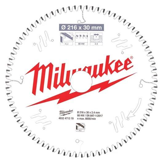 Milwaukee CSB MS Alu Sågklinga 216x24x30 mm 80T