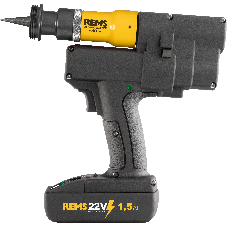 REMS Akku-Ex-Press P 22 V ACC Rörexpander med 15 Ah batteri och laddare
