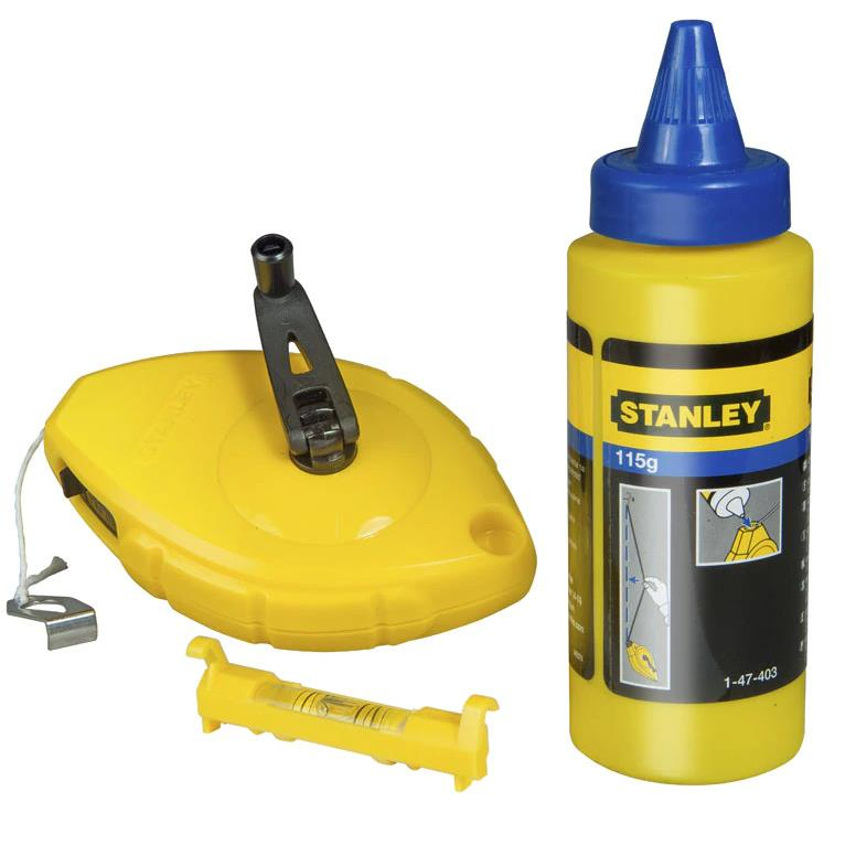 STANLEY 0-47-443 Snörslå 30 meter med krita