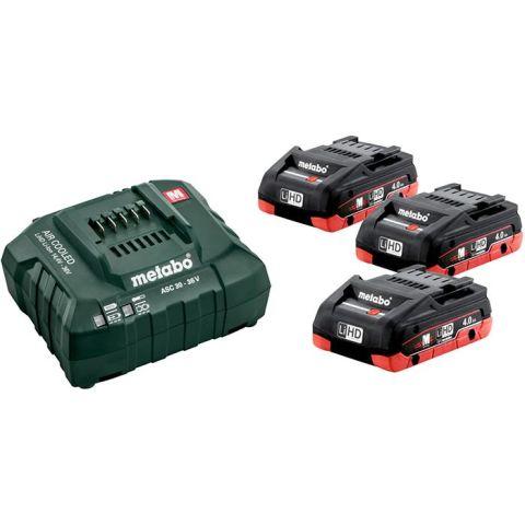 1110359 Metabo Bas-set Laddpaket 3st 4,0Ah batterier