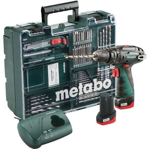 1110364 Metabo Powermaxx SB Basic Slagborrmaskin med tillbehörskit, batterier och laddare