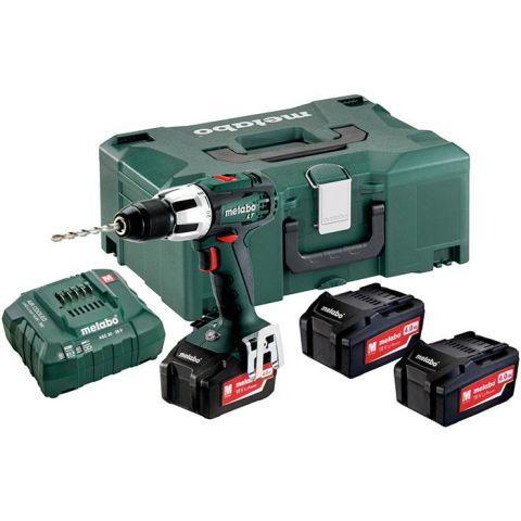 1110456 Metabo SB 18 LT Set Slagborrmaskin med väska, 4,0Ah batterier och laddare
