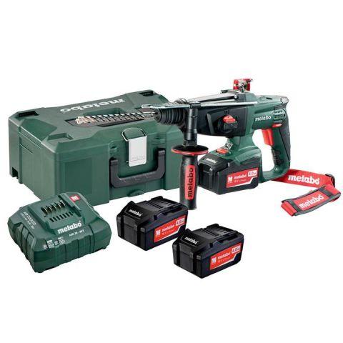 1110402 Metabo KHA 18 LTX SET Kombihammare med 4,0Ah batterier och laddare