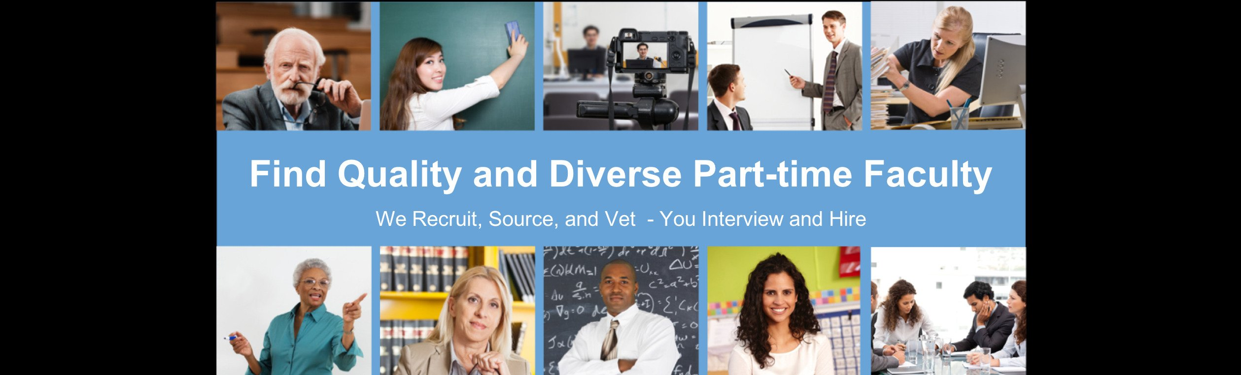 Find Quality and Diverse Part-Time Faculty