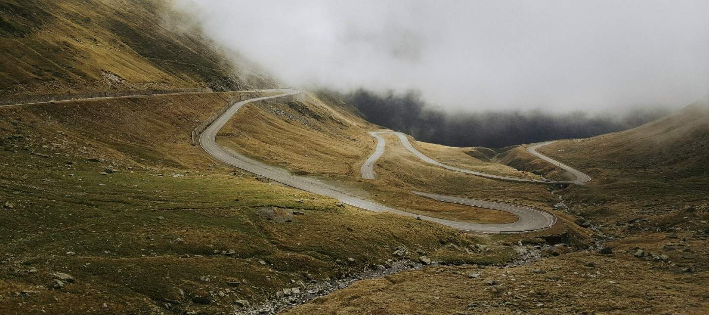 Winding road on a mountain