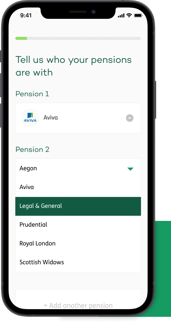 Phone showing online account