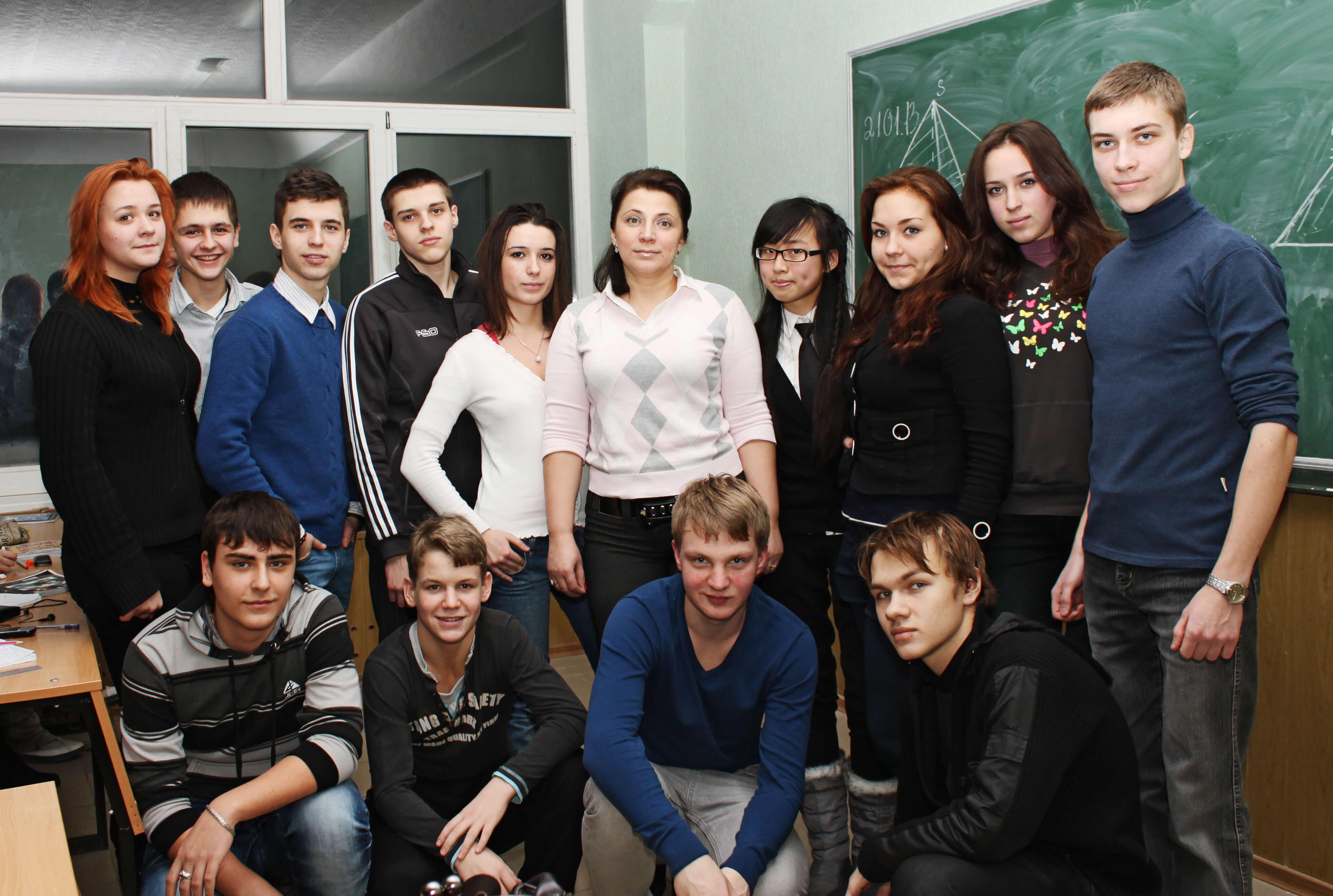 Учащиеся ФМШ ХАИ