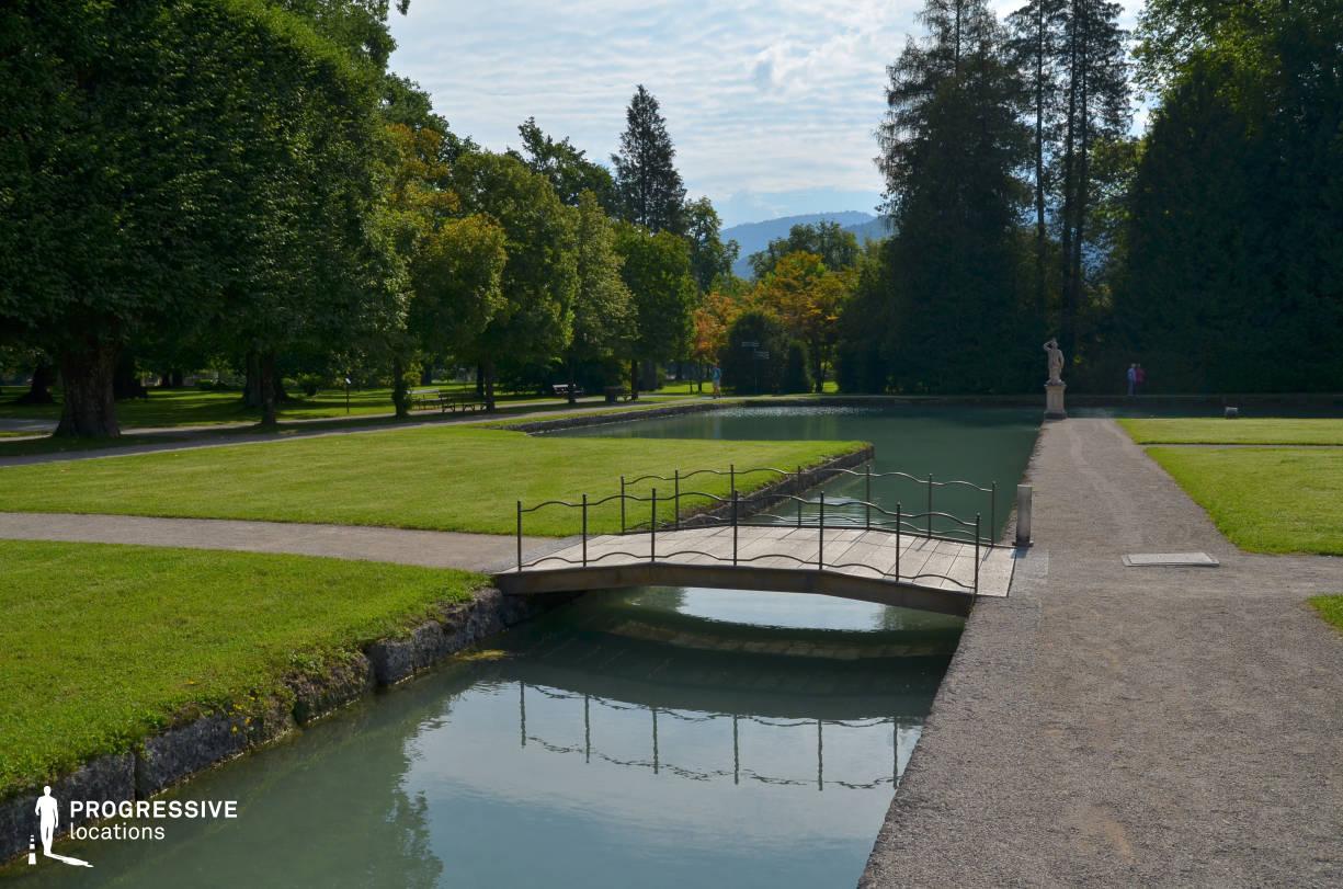 Locations in Austria: Garden %26 Bridge, Hellbrunn Palace