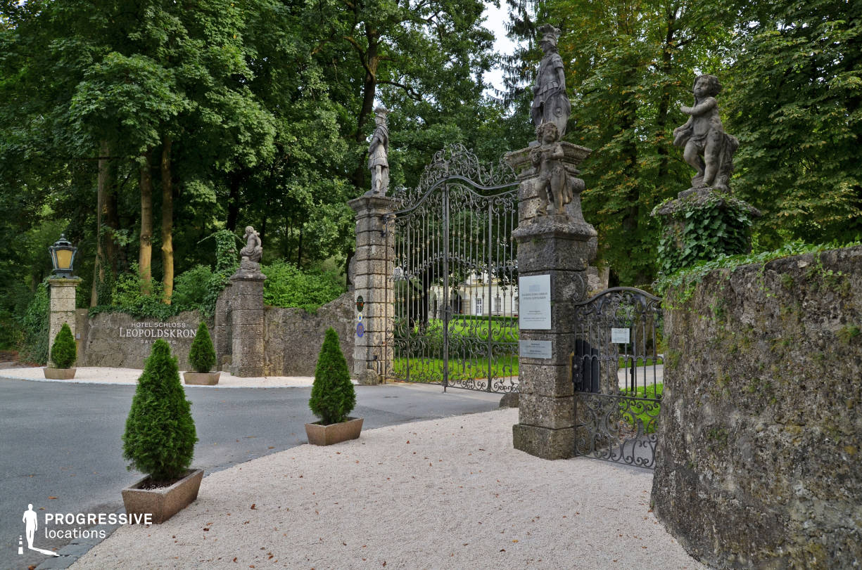 Locations in Austria: Gate, Leopoldskron Palace