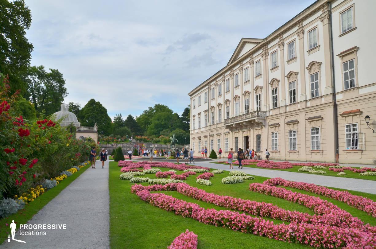 Locations in Austria: Palace Facade, Mirabell Garden