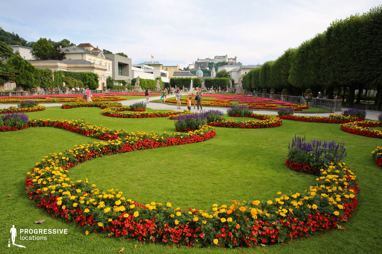 Locations in Austria: Garden %26 Flowers, Mirabell Palace