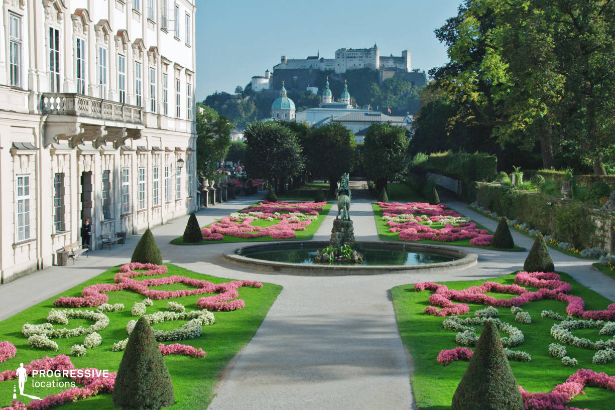 Locations in Austria: Fortress View %26 Mirabell Garden