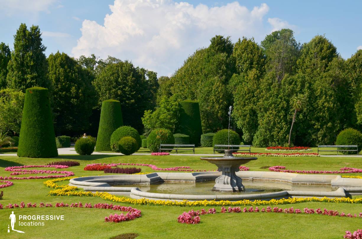 Locations in Austria: French Garden %26 Fountain, Schoenbrunn Palace