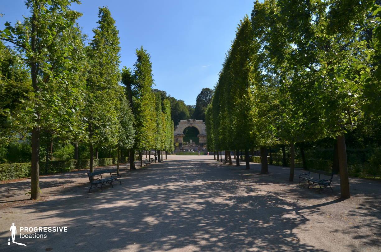 Locations in Austria: Garden Promenade, Schoenbrunn Palace