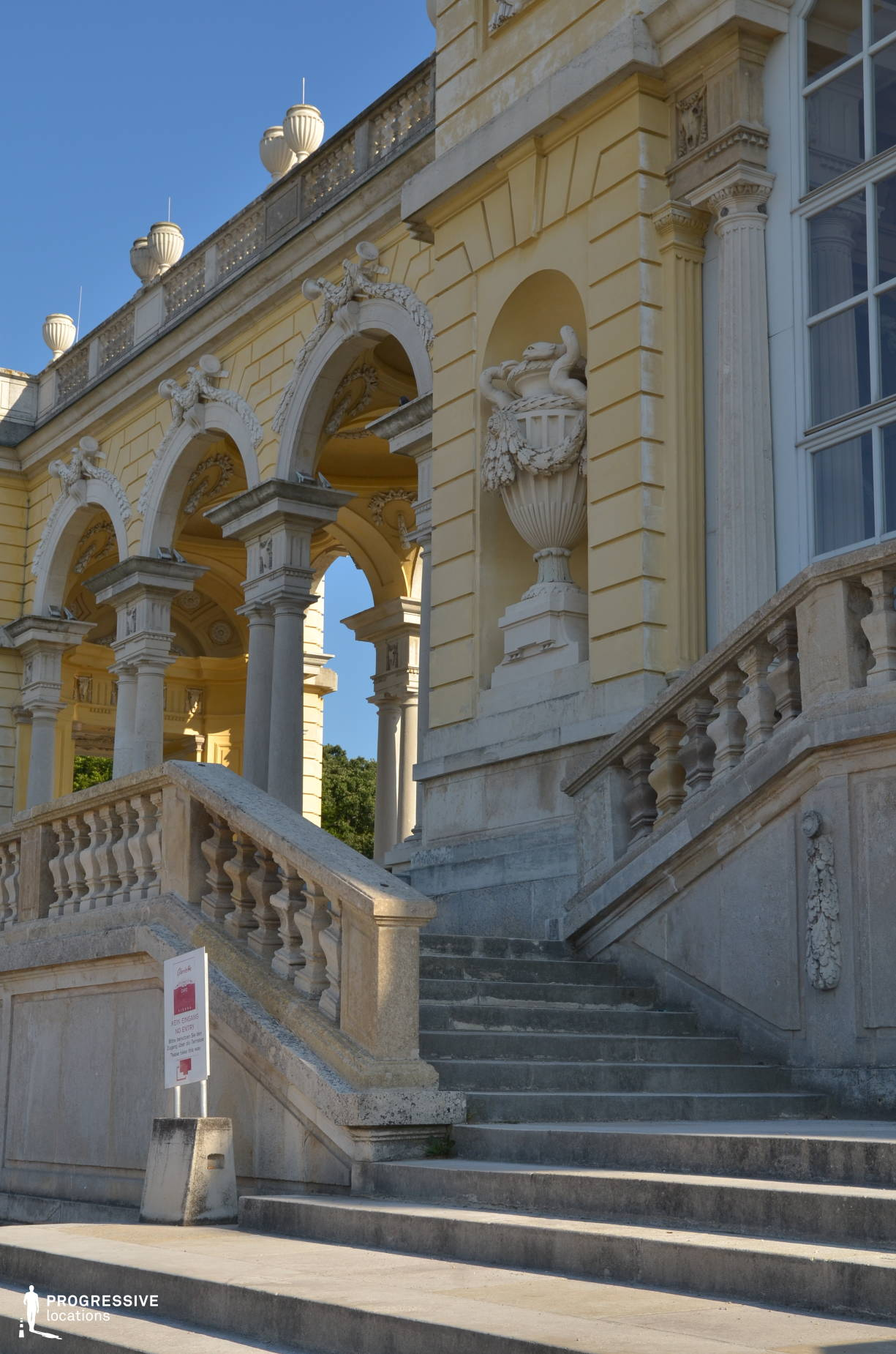 Locations in Austria: Gloriette Stairs, Schoenbrunn Palace