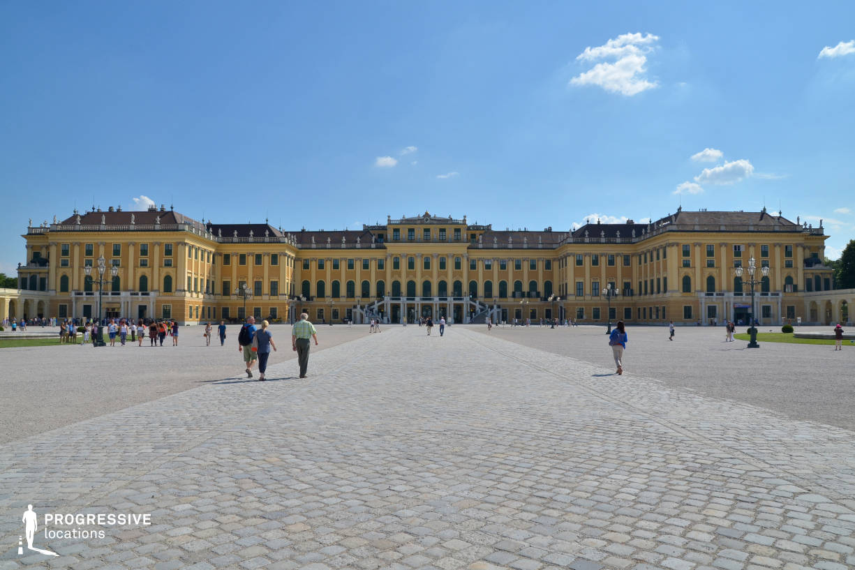 Locations in Austria: North Facade %26 Square, Schoenbrunn Palace