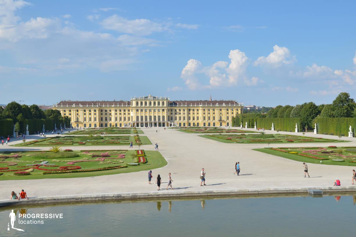 Locations in Austria: Garden Panorama, Schoenbrunn Palace
